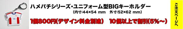 ハメパチシリーズユニフォーム型BIGキーホルダー